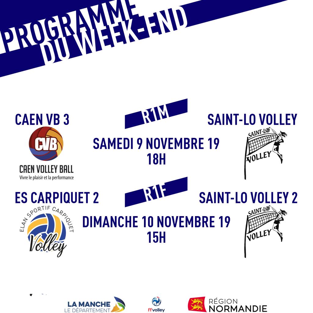 Programme du week : 9-10 novembre 2019