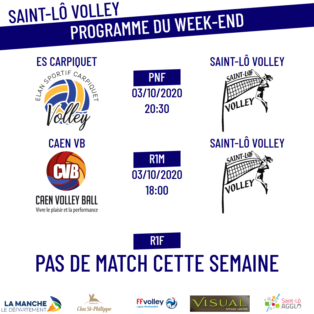 Programme du week-end : 3-4 octobre 2020